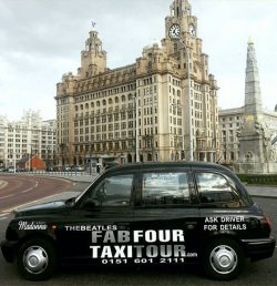 A Beatles-themed taxi tour in Liverpool