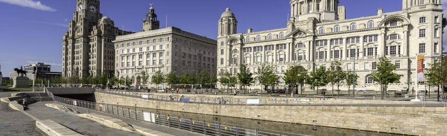 The Three Graces Buildings in Liverpool